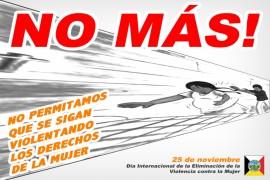 NO MAS VIOLENCIA CONTRA NOSOTRAS